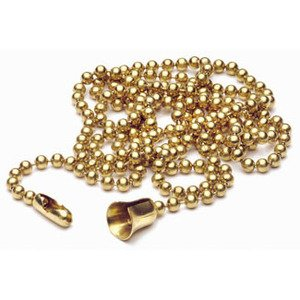 Leviton 6-B Extension Chain, 3', #6 Ball, Brass