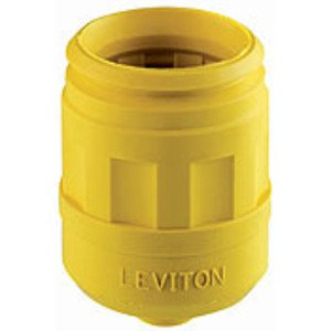 Leviton 6017-Y Boot for 15/20 Amp Straight Blade Plug, Yellow