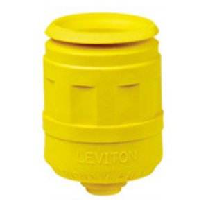Leviton 6031-Y Boot, 20 Amp & 30 Amp, Yellow