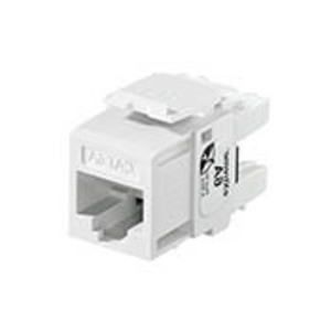 Leviton 6110G-RW6 Snap-In Connector, QuickPort, eXtreme 10G, CAT 6A, White