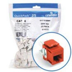 Leviton 61110-BO6 Jack Cat 6 Org Bulk 25
