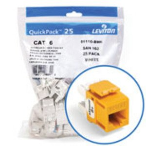 Leviton 61110-BY6 Jack Cat 6 Ylw Bulk 25