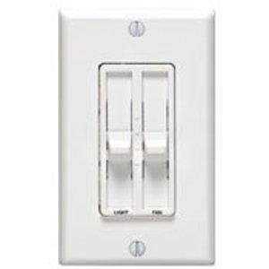 Leviton 6630-W Fan/Light Control, 1-Pole, 300W, 1.5A, 120V, White