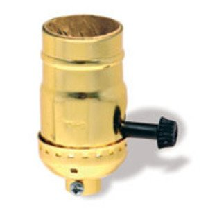 Leviton 7090-BR Lampholder, Incandescent, Metal Shell, Brass