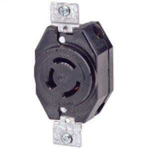 Leviton 7310-B Locking Receptacle, Non-NEMA, 20A, 125/250V, 3P3W