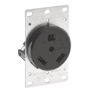 Leviton 7313 30 Amp Flush Mount Receptacle, 125V, TT-30R, Grounding