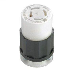 Leviton 7413-C Locking Non-NEMA Connector, 20A, 120/208V, 4P4W