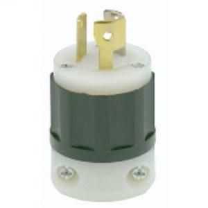 Leviton 7567-C Locking Non-NEMA Plug, 15/10A, 125/V, 3P3W