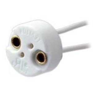 Leviton 80052 Lampholder, Mini Bi-Pin, GX5.3 MR16, White
