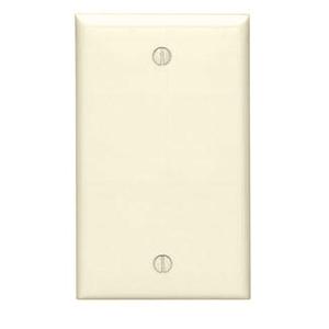 Leviton 80714-T Blank Wallplate, 1-Gang, Nylon, Light Almond, Standard, Box Mount