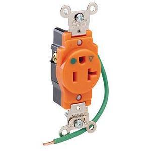Leviton 8310-OIG 20 Amp, 125 Volt, Narrow Body NEMA 5-20R, Orange