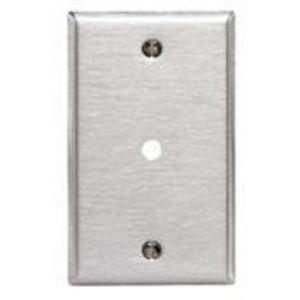 """Leviton 84013-40 Phone/Cable Wallplate, 1-Gang, .312"""" Hole, 302 SS"""