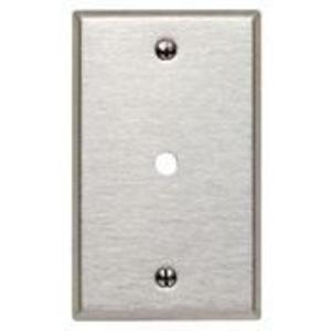 "Leviton 84013 Phone/Cable Wallplate, 1-Gang, .312"" Hole, 430 SS"
