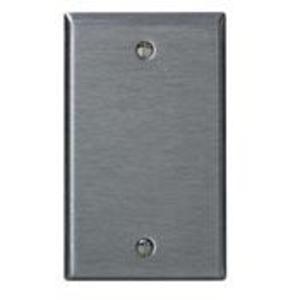 Leviton 84014-40 Blank Wallplate, 1-Gang, 302 Stainless Steel, Standard, Box Mount