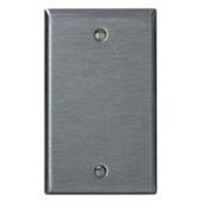 Leviton 84014 Blank Wallplate, 1-Gang, Stainless Steel, Standard, Box Mount