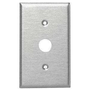 Leviton 84071-40 Keylock Switch Wallplate, 1-Gang, Stainless Steel