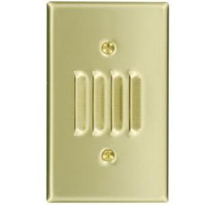 Leviton 84079-40 Louvre Wallplate, 1-Gang, Horizontal, Non-Metallic Stainless Steel