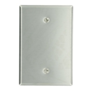 Leviton 84114-40 Blank Wallplate, 1-Gang, 302 Stainless Steel, Oversize
