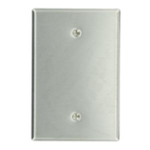 Leviton 84114 Blank Wallplate, 1-Gang, Stainless Steel, Oversize