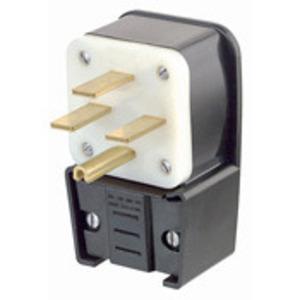 Leviton 8432-P 30 Amp Angle Plug, 250V 3PH, 15-30P, Grounding