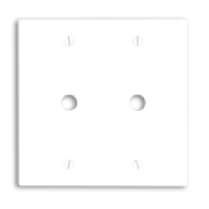 """Leviton 88062 Phone/Cable Wallplate, 2-Gang, .406"""" Hole, White Thermoset"""