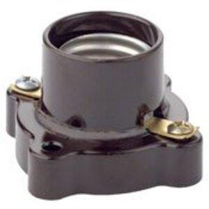 Leviton 9063 Incandescent Lampholder, Phenolic, Medium Base, Brown