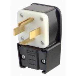Leviton 9462-P 60 Amp Angle Plug, 125/250V, 14-60P, 3P4W, Grounding