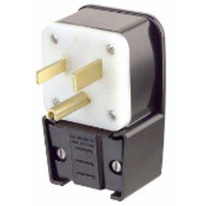 Leviton 9550-P 50 Amp Angle Plug, 125V, 5-50P, 2P3W, Black