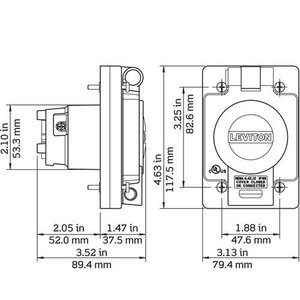 Leviton 97W49-S WG OUTLET WITH COVER