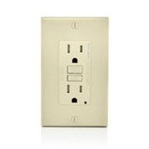 Leviton AGTR1-T AFCI/GFCI Receptacle, 15A, 125V, Light Almond