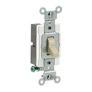 Leviton CS115-2I 1-Pole Switch, 15 Amp, 120/27V, Ivory, Side Wired, Commercial