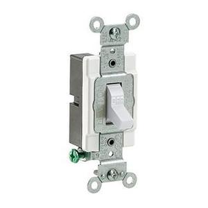 Leviton CS120-2W 1-Pole Switch, 20 Amp, 120/27V, White, Side Wired, Commercial
