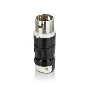Leviton CS6365C Locking Plug, 50A, 125/250V, California Style, 3P4W