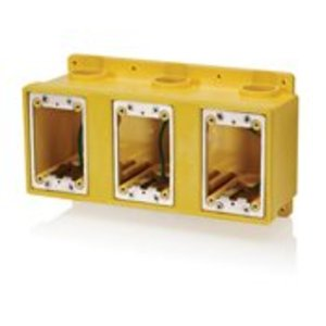 Leviton FDBX3-Y Weatherproof FD Box, 3-Gang, Yellow