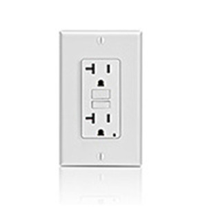 Leviton GFNT2-T GFCI Receptacle, 20A, 125V, Slim, Light Almond