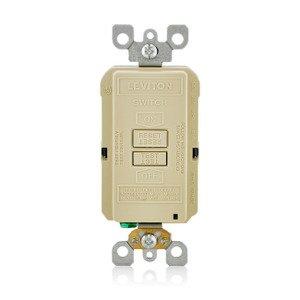 Leviton GFRBF-I Blank GFCI, 20 Amp, 120V, Ivory
