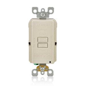 Leviton GFRBF-T Blank GFCI, 20 Amp, 120V, Light Almond