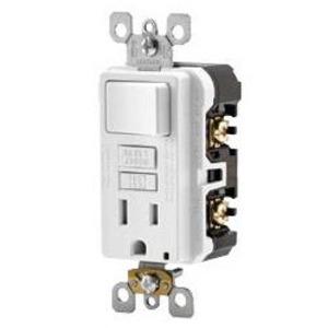 Leviton GFSW1-W 15A, 125V SmartlockPro Slim Combination GFCI, White
