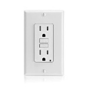 Leviton GFTR1-W Tamper Resistant GFCI Receptacle, 15A, 125V , White
