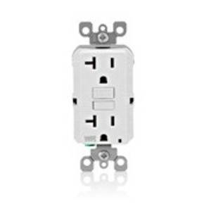 Leviton GFWR2-W Weather-Resistant GFCI Receptacle, 20A, 125V White