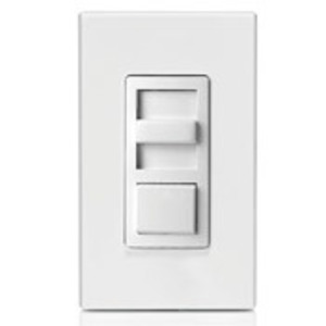Leviton IP710-LFZ Slide Dimmer, Fluorescent, IllumaTech, White