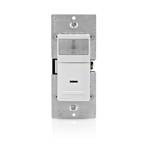 Leviton IPV05-1LZ Vacancy Sensor, PIR, 600W, 120V, White