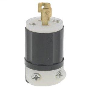 Leviton ML1-P Locking Plug, 15A, 125 V, 2P2W