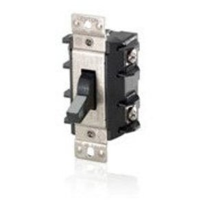 Leviton MS302-DS Manual Motor Switch, 30A, 600VAC, Toggle Style, 2P, Black