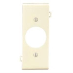 "Leviton PSC7-I Sectional Wallplate, Single Rcpt. - 1.406"", Center, Nylon, Ivory"