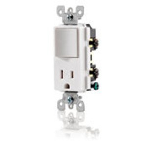 Leviton T5625-T 15 Amp Combination Decora Receptacle, Light Almond