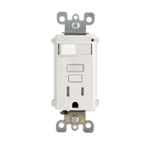 Leviton T7299-PW Switch/GFCI Receptacle Combo, 15A