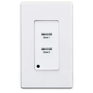 Leviton ZMDSW-2W Z-MAX® Digital Pushbutton Station, 02 Button, 1 Gang, White