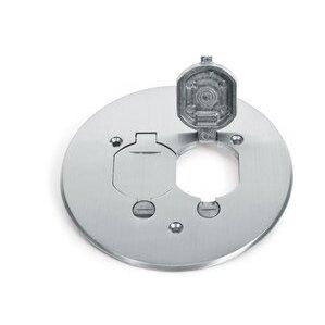 """Lew TCP-2-LR-A Round Duplex Cover, Diameter:  5-3/4"""", Metallic, Aluminum"""