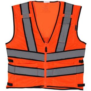 Lift Safety AV2-10E1L Safety Vest, Viz-Pro 2 - Size: X-Large, Orange